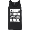 Sorry Officer Tank Top Black X-Small S M L XL 2XL