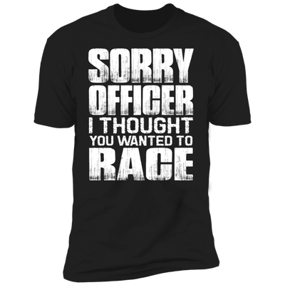 SORRY OFFICER T-SHIRT Black X-Small S M L XL 2XL 3XL 4XL