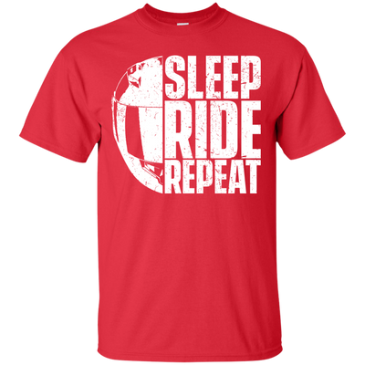 Sleep Ride Repeat T-Shirt Red Small Medium Large X-Large XX-Large XXX-Large 4XL 5XL 6XL
