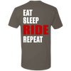 EAT SLEEP RIDE REPEAT T-SHIRT Warm Grey X-Small S M L XL 2XL 3XL 4XL