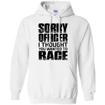 Sorry Officer Hoodie White Small Medium Large X-Large XX-Large XXX-Large 4XL 5XL 6XL