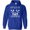 Speed Junkie Hoodie Blue Small Medium Large X-Large XX-Large XXX-Large 4XL 5XL 6XL