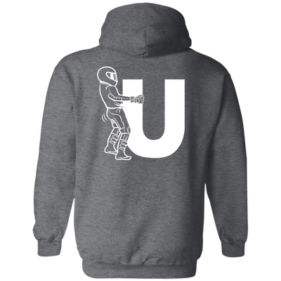 F-U Motorcyclist Hoodie Grey Small Medium Large X-Large XX-Large XXX-Large 4XL 5XL 6XL