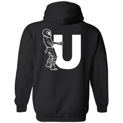 F-U Motorcyclist Hoodie Black Small Medium Large X-Large XX-Large XXX-Large 4XL 5XL 6XL