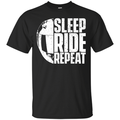 Sleep Ride Repeat T-Shirt Black Small Medium Large X-Large XX-Large XXX-Large 4XL 5XL 6XL