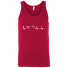 Motorcycle Heartbeat Tank Top Red X-Small S M L XL 2XL