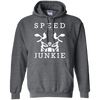 Speed Junkie Hoodie Grey Small Medium Large X-Large XX-Large XXX-Large 4XL 5XL 6XL