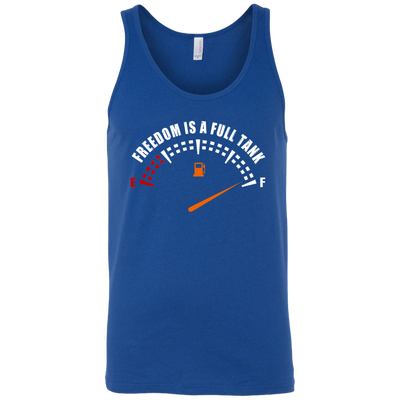 Freedom Is A Full Tank Tank Top Blue X-Small S M L XL 2XL