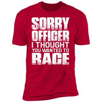 SORRY OFFICER T-SHIRT Red X-Small S M L XL 2XL 3XL 4XL