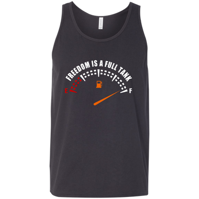 Freedom Is A Full Tank Tank Top Dark Grey X-Small S M L XL 2XL