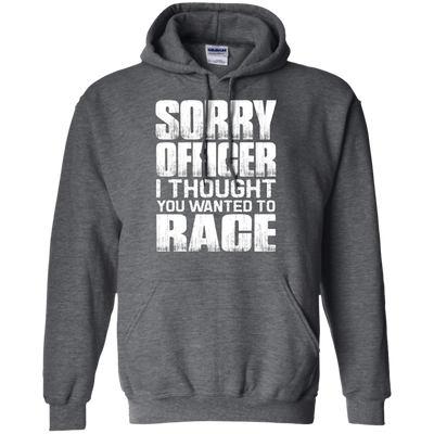 Sorry Officer Hoodie Grey Small Medium Large X-Large XX-Large XXX-Large 4XL 5XL 6XL