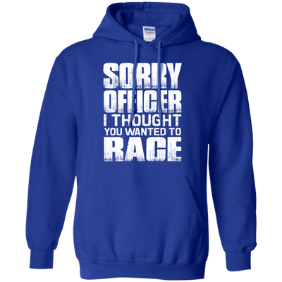 Sorry Officer Hoodie Blue Small Medium Large X-Large XX-Large XXX-Large 4XL 5XL 6XL