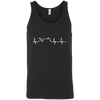 Motorcycle Heartbeat Tank Top Black X-Small S M L XL 2XL