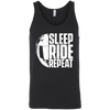 Sleep Ride Repeat Tank Top Black X-Small S M L XL 2XL