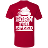 BORN FOR SPEED MOTORCYLE T-SHIRT Red X-Small S M L XL 2XL 3XL 4XL
