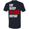EAT SLEEP RIDE REPEAT T-SHIRT Midnight Navy X-Small S M L XL 2XL 3XL 4XL
