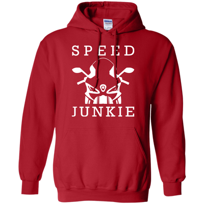Speed Junkie Hoodie Red Small Medium Large X-Large XX-Large XXX-Large 4XL 5XL 6XL