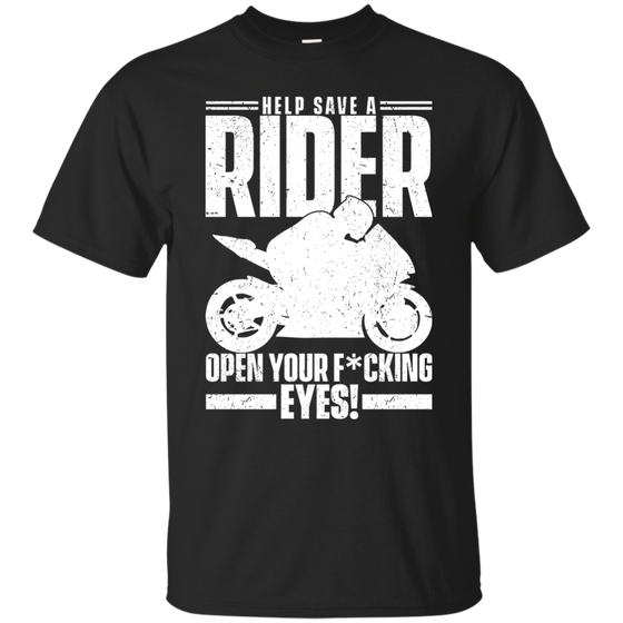 Save A Rider T-Shirt Black Small Medium Large X-Large XX-Large XXX-Large 4XL 5XL 6XL