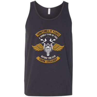 Think Straight Tank Top Dark Grey X-Small S M L XL 2XL