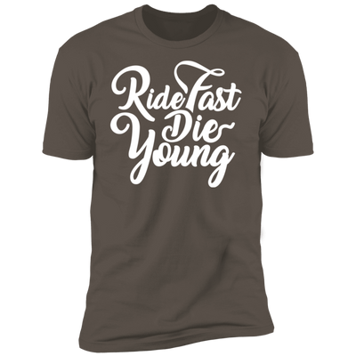 RIDE FAST DIE YOUNG T-SHIRT Warm Grey X-Small S M L XL 2XL 3XL 4XL
