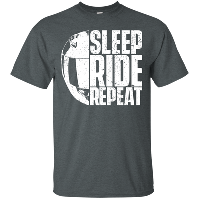 Sleep Ride Repeat T-Shirt Grey Small Medium Large X-Large XX-Large XXX-Large 4XL 5XL 6XL