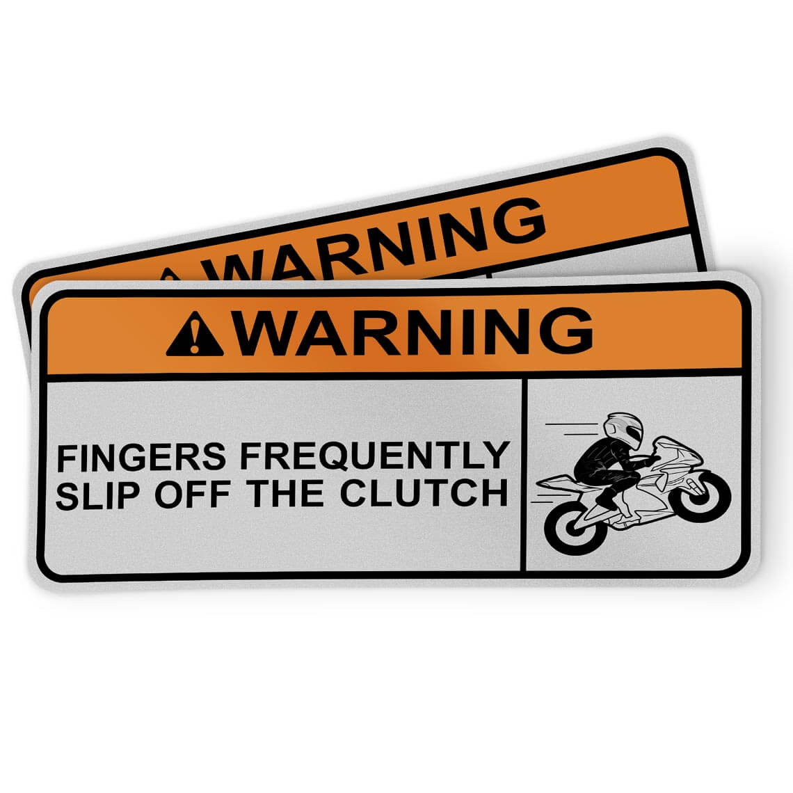 Motorcycle Sticker - Fingers slip off clutch (2 pack)