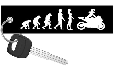 Female Rider Evolution - Motorcycle Keychain riderz
