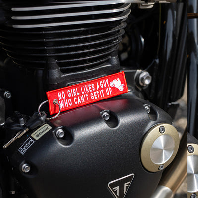 Can't Get It Up - Motorcycle Keychain