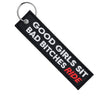 Good Girls Sit Bad Bitches Ride - Motorcycle Keychain