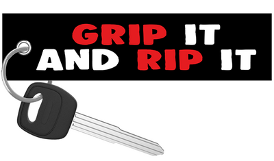 Grip It and Rip It - Motorcycle Keychain riderz