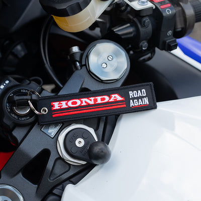 Honda Road Again - Motorcycle Keychain