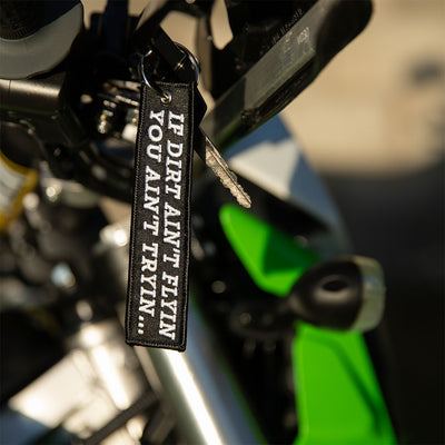 You Ain't Tryin - Dirt Bike Keychain