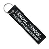I Know... License and Registration - Motorcycle Keychain