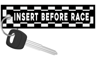 Insert Before Flight Checkered - Motorcycle Keychain riderz