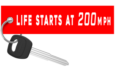 Life Starts At 200mph - Motorcycle Keychain riderz