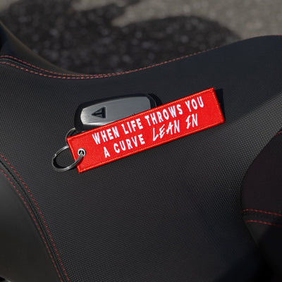 Lean In - Motorcycle Keychain