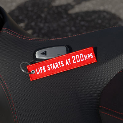 Life Starts At 200mph - Motorcycle Keychain