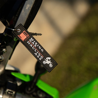 Mixing Gas Haling Ass - Dirt Bike Keychain