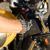 Motorcycle Chain Bracelet - Steel Finish