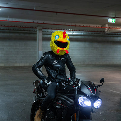 Motorcycle Helmet Cover - Chicken
