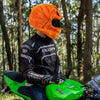 Motorcycle Helmet Cover - Evil Pumpkin