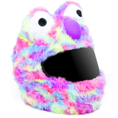 Motorcycle Helmet Cover - Rainbow Short Fur