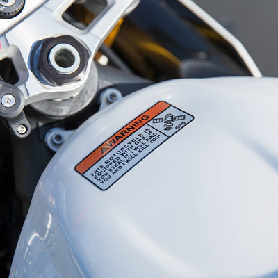 Motorcycle Sticker - GPS warning (2 pack)
