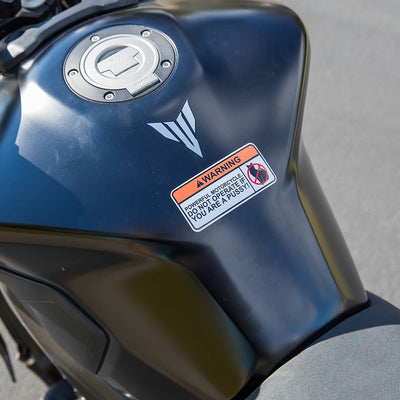 Motorcycle Sticker - Not for Pussies (2 pack)