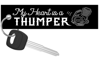My Heart Is A Thumper - Dirt Bike Keychain riderz