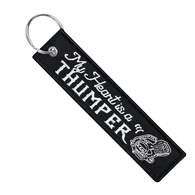 My Heart Is A Thumper - Dirt Bike Keychain