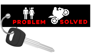 Problem Solved - Motorcycle Keychain riderz