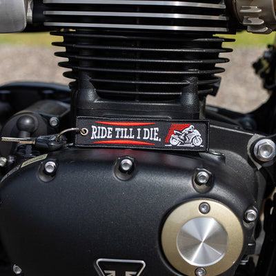 Ride Till I Die - Motorcycle Keychain