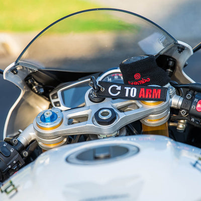 Turn To Arm - Motorcycle Keychain