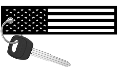 USA Flag Black and White - Motorcycle Keychain riderz
